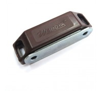 Мебельный магнит 60х15 мм, коричневый цвет