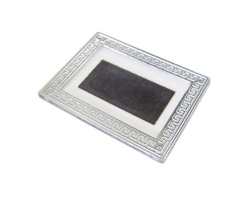 Акриловый магнит Багет с серебром