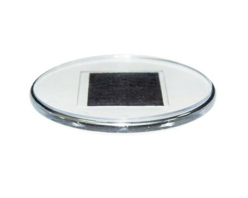 Акриловый магнит Овал с серебром