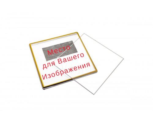 Акриловый магнит 65*65 золото с вашим дизайном