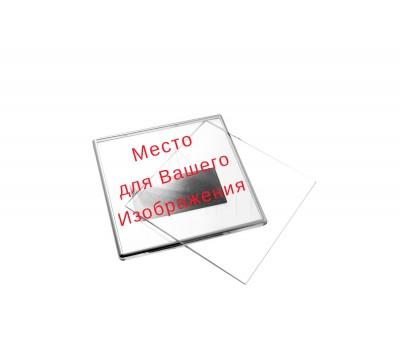 Акриловый магнит 100*100 серебро с вашим дизайном