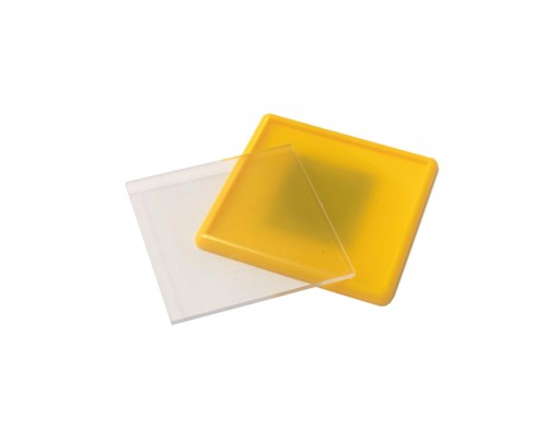 Акриловый магнит 65х65 желтый