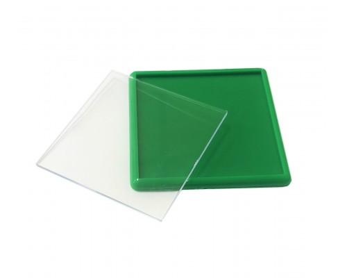 Акриловый магнит 65х65 зеленый