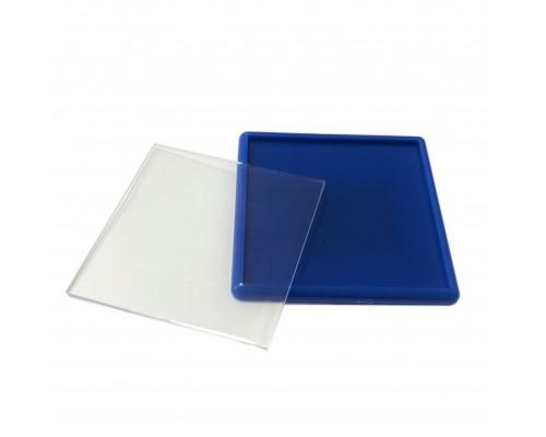 Акриловый магнит 65х65 синий