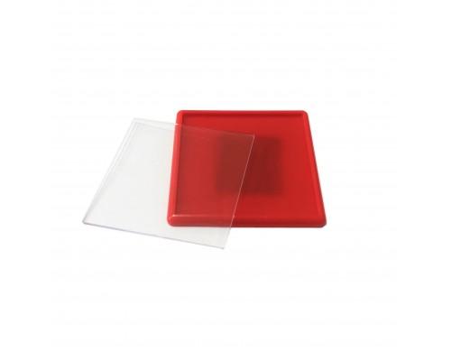 Акриловый магнит 65х65 красный