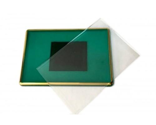 Акриловый магнит 55х80 (Зеленый с позолотой)