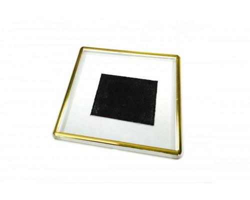 Акриловый магнит 65х65 с позолотой