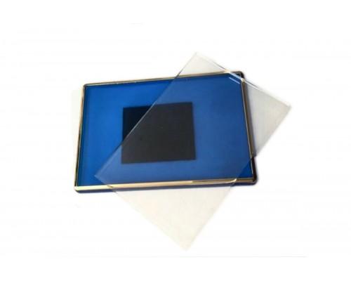 Акриловый магнит 55х80 (Синий с позолотой)