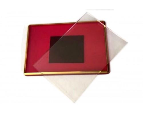 Акриловый магнит 55х80 (Красный с позолотой)