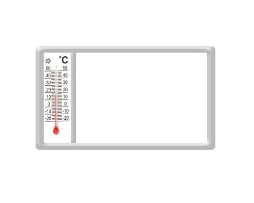 Акриловый магнит 52х96 с термометром