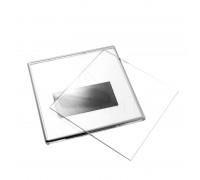 Акриловый магнит 100*100 серебро