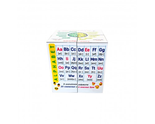Кубик трансформер с правилами Английского языка