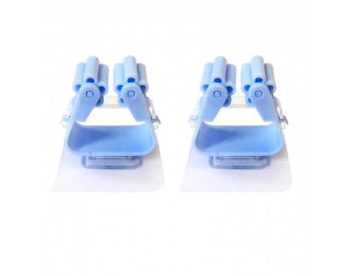 Самоклеящийся настенный держатель для швабры, набор 2шт, цвет голубой