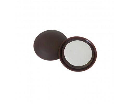 Стопор дверной самоклеящийся, настенный ограничитель (антиударная накладка) 1,5х6см, цвет коричневый, упаковка 8шт.