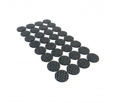 Накладки от повреждений на мебельные ножки (самоклеящиеся подкладки для мебели) 24мм, 32шт. черный