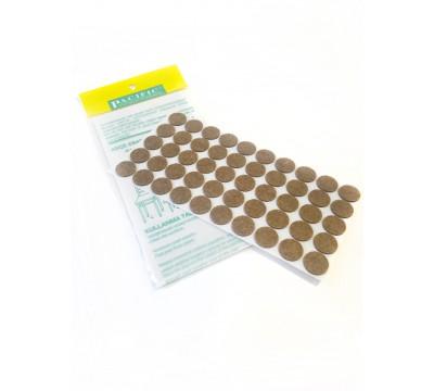 Накладки от повреждений на мебельные ножки (самоклеящиеся) 20мм, 50шт. коричневый