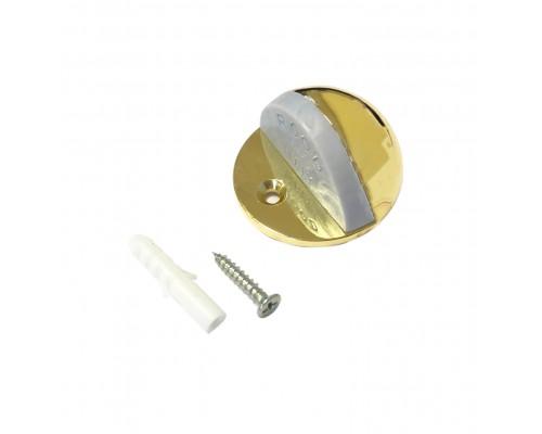 Ограничитель дверной напольный (упор), цвет золото