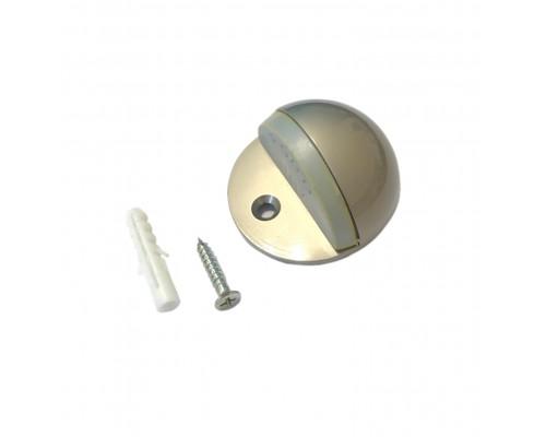 Ограничитель дверной напольный (упор), никель