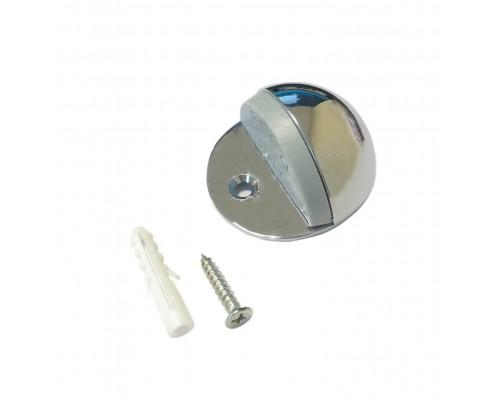 Ограничитель дверной напольный (упор), цвет хром