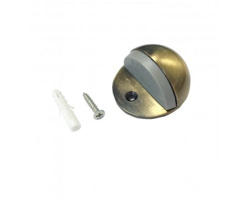 Ограничитель дверной напольный (упор), цвет бронза матовая