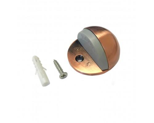 Ограничитель дверной напольный (упор), цвет медь