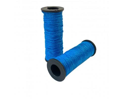 Капроновая нить хозяйственная 50м, в катушке, цвет синий, упаковка 2шт
