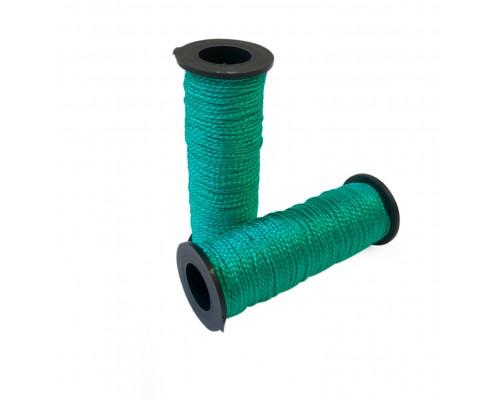 Капроновая нить хозяйственная 50м, в катушке, цвет зеленый, упаковка 2шт