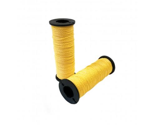 Капроновая нить хозяйственная 50м, в катушке, цвет желтый, упаковка 2шт