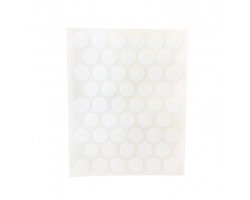 Заглушка самоклеящаяся для мебели 14мм (мебельные наклейки декоративные), упаковка 50 шт. цвет белый