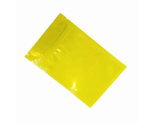 Пакет Zip Lock, желтый, 6х7 см, 100 мкм 50 шт