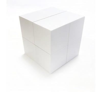 Кубик-трансформер Белый  (заготовка, 80 мм)