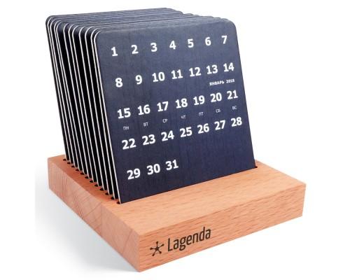 Календарь на деревянной подставке Совершенно секретно