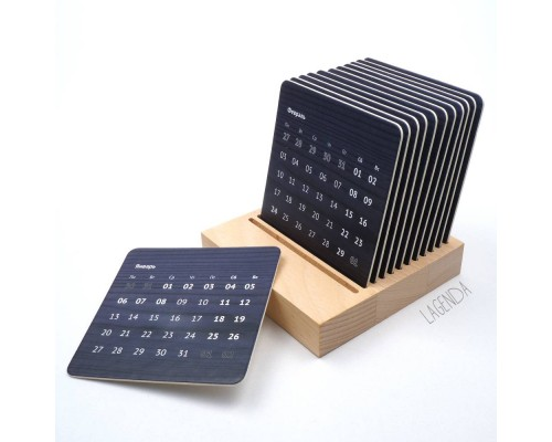 Настольный календарь Uno Black