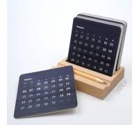 Настольный календарь Дуо черный