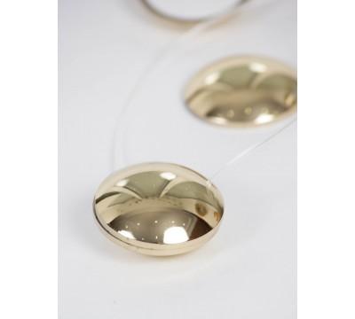Клипса магнитная круг, золото - 2 шт