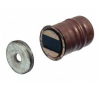 Мебельный магнит 15х9 мм, цвет коричневый