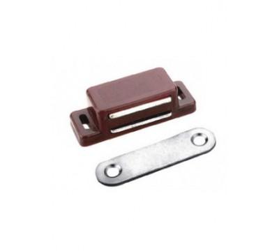 Мебельный магнит 45х15 мм, коричневый цвет