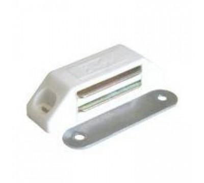 Мебельный магнит 60х15 мм, белый цвет