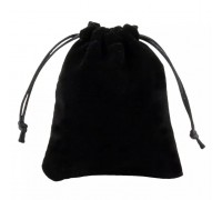Мягкий черный бархатный мешок