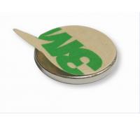 Магнит неодимовый диск 10х1 мм С КЛЕЕМ 3М