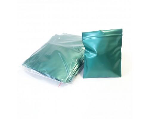 Пакет Zip Lock, зеленый, 6х7 см, 100 мкм 50 шт