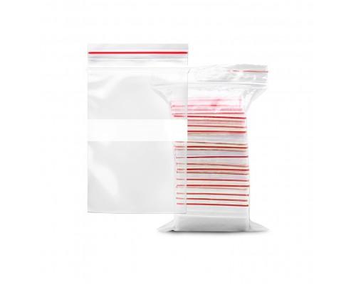 Пакет Zip Lock, 7*10 см, с полосой, упаковка 100 штук