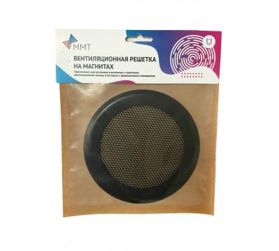 Вентиляционная решетка на магнитах КП 100 Сетка, цвет черный