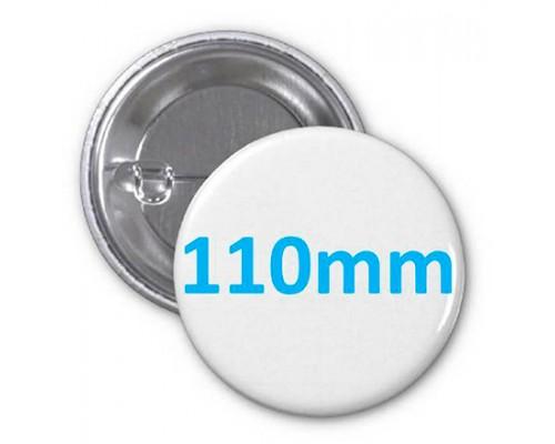 Заготовка для значка металл/булавка 110 мм, упаковка 100 штук