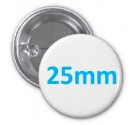 Заготовка для значка металл/булавка 25 мм, упаковка 400 штук
