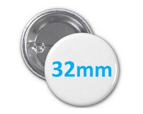 Заготовка для значка металл/булавка 32 мм, упаковка 200 штук