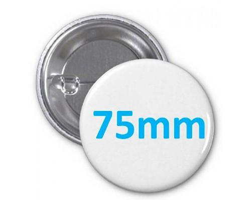 Заготовка для значка металл/булавка 75 мм, упаковка 100 штук